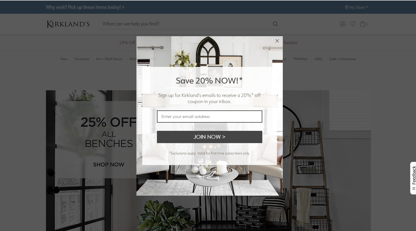 popups cart abandonment rate