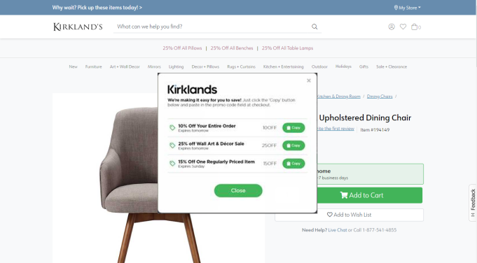 kirklands using engage
