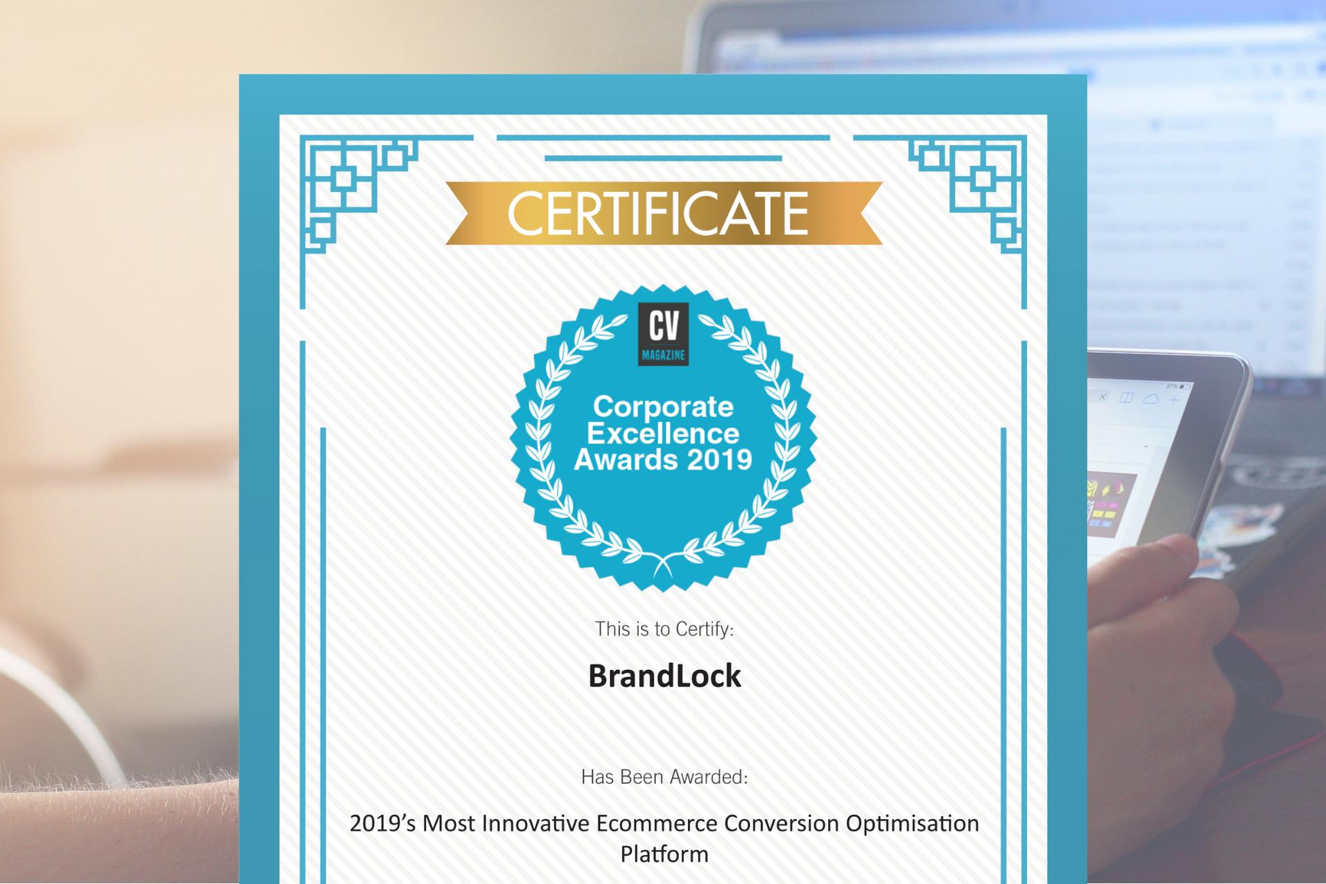 CV Magazine Names BrandLock 2019's Most Innovative Ecommerce Conversion Optimisation Platform