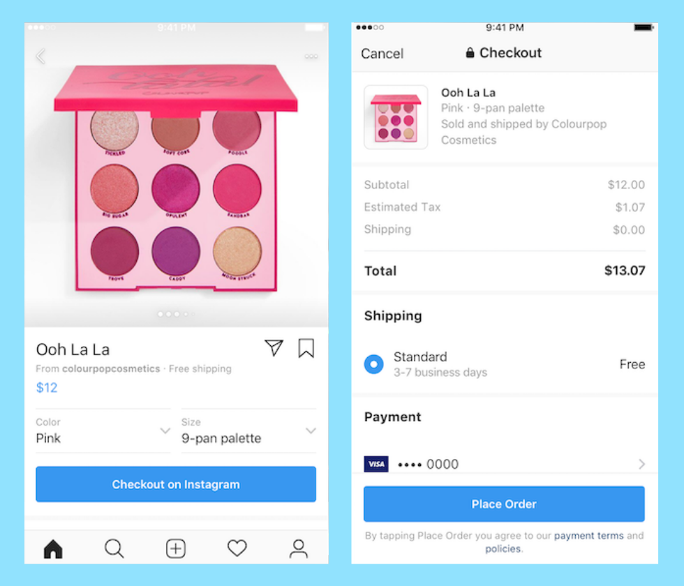 increase ecommerce revenue - instagram checkout