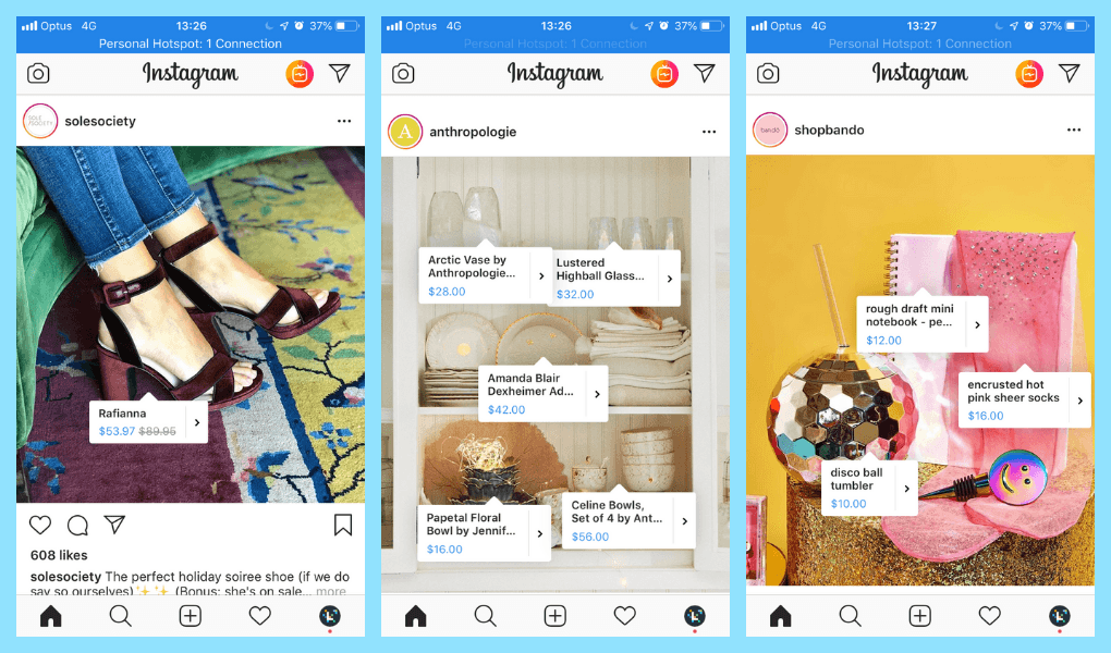 instagram shopping - increase ecommerce revenue