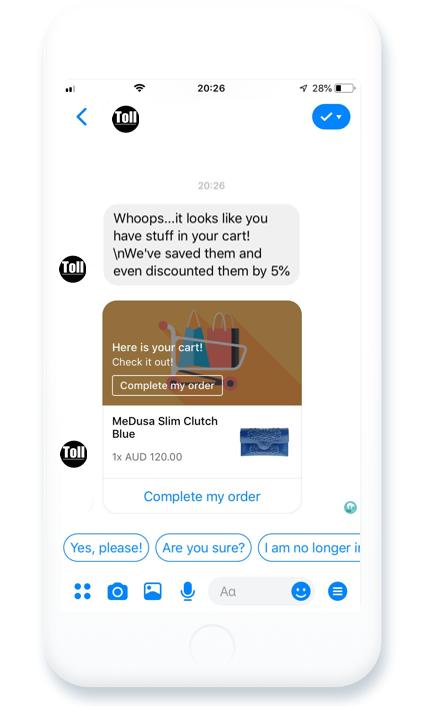 product page optimization - messenger 2