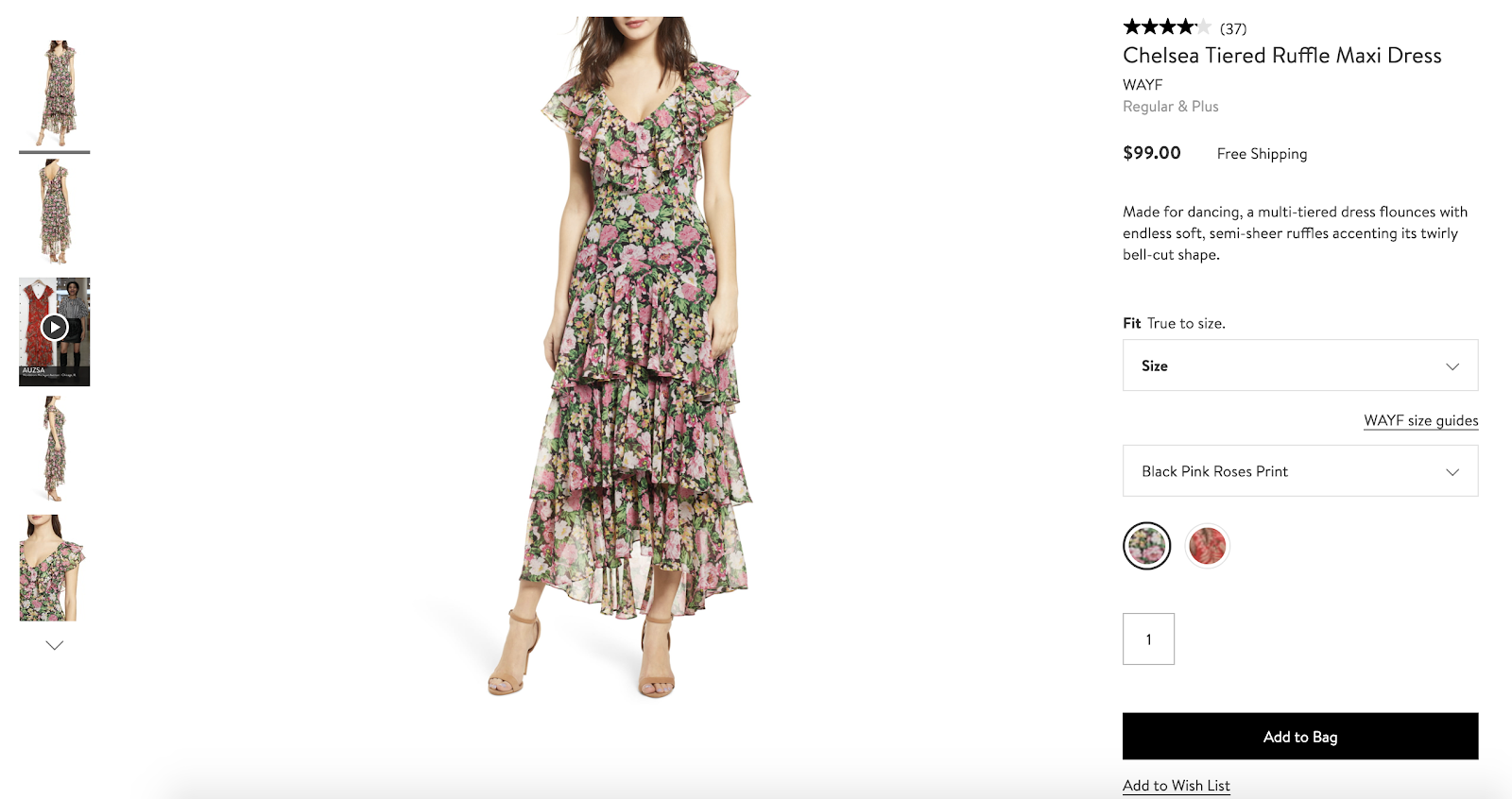 product page optimization nordstrom