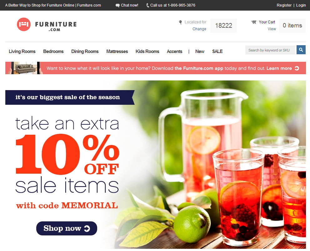 Furniture.com-home-page
