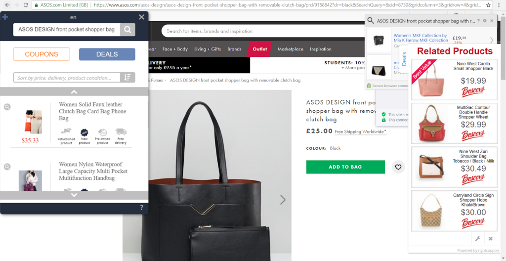 ecommerce adware on mango - brandlock