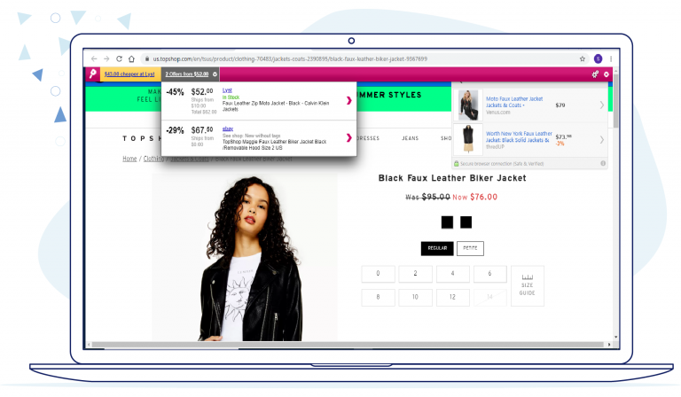 Ad Injections on TopShop